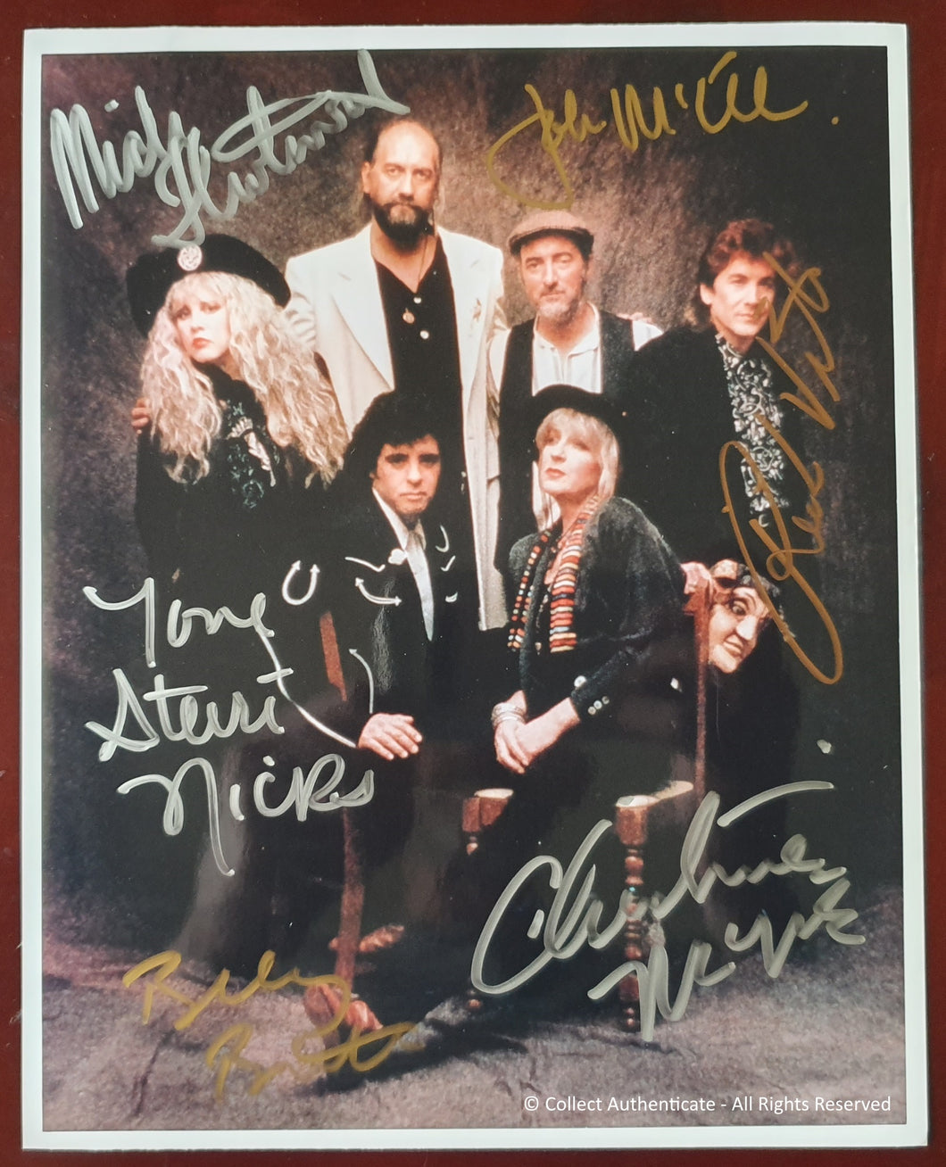 Fleetwood Mac Band All Autographed Glossy 8x10 Photo COA #FM59062
