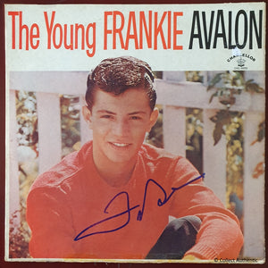 Frankie Avalon Autographed The Young Frankie Avalon Record Album COA #FA49763