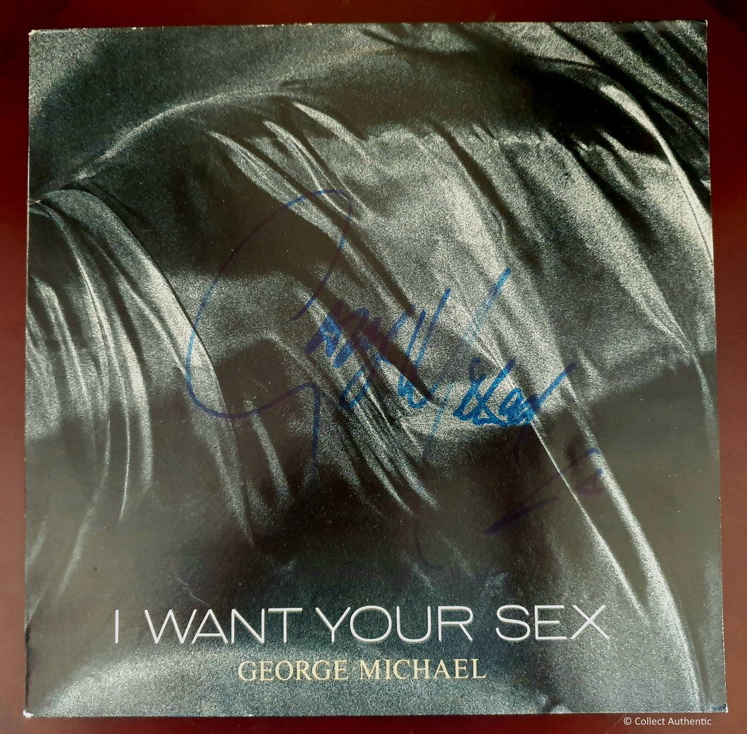 George Michael Autographed I Want Your Sex COA #GM36841