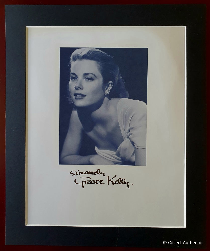 Grace Kelly Autographed Vintage Matted 8x10 Photo COA #GK89763