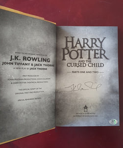 JK Rowling Signed Harry Potter & The Cursed Child 1ST ED Hardcover COA #JK47963