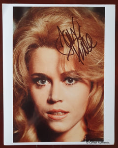 Jane Fonda Autographed Barbarella Glossy 8x10 Photo COA #JF47982