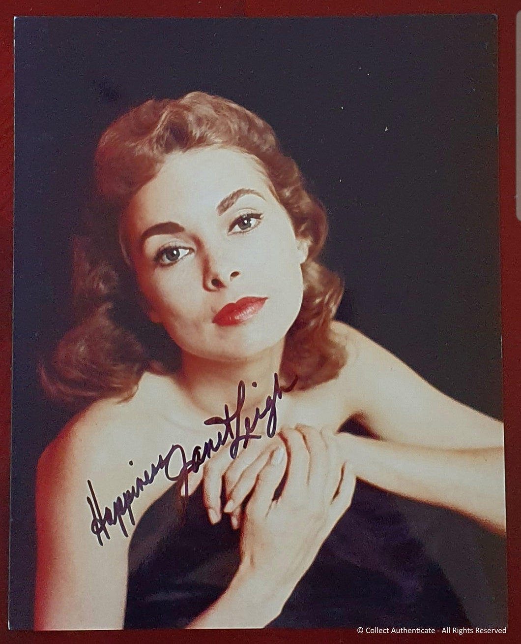 Janet Leigh Autographed Glossy 8x10 Photo - COA #JL28974