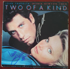 John Travolta & Olivia Newton-John Autographed Two of a Kind Record Album COA #JJ47962
