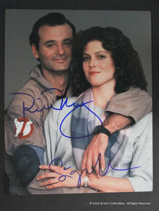 Bill Murray & Sigourney Weaver Autographed