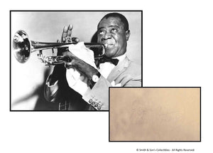 Louis Armstrong - Signed Autographed / Vintage