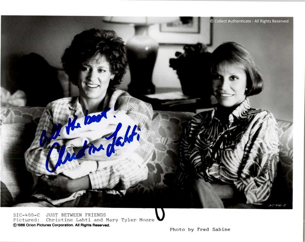 Mary Tyler Moore & Christina Lahti Autographed 8x10 Photo - COA #MT58860