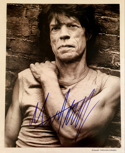 Mick Jagger Autographed Glossy 8x10 Photo COA #MJ22174