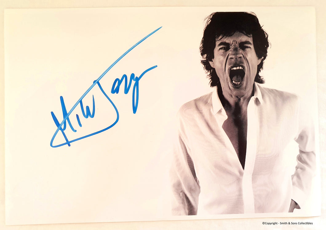 Mick Jagger Autographed Rolling Stones Photo - COA #MJ58457