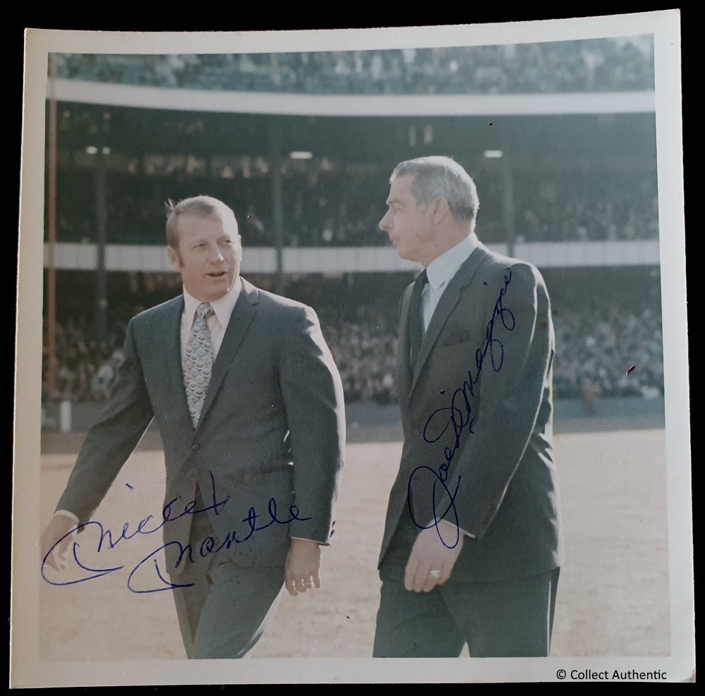 Mickey Mantle and Joe Dimaggio Autographed - COA #MJ56443