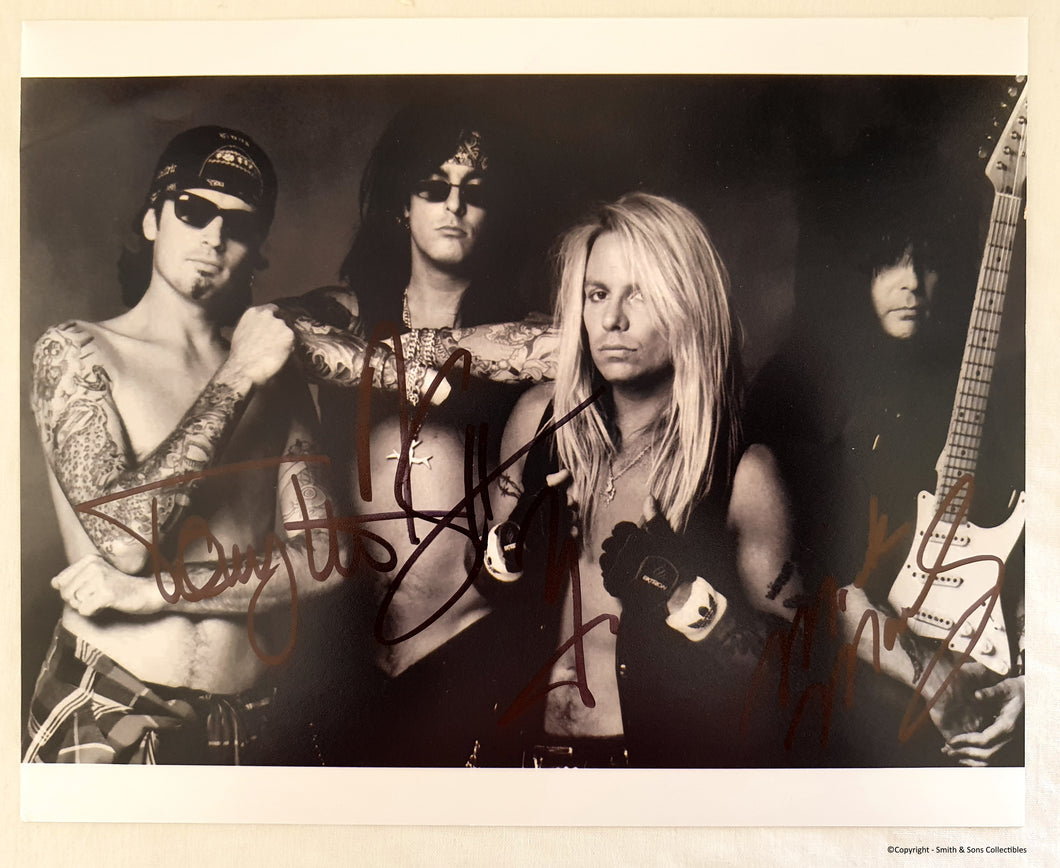 Motley Crue Band Autographed 8x10 Photo COA #MC45489