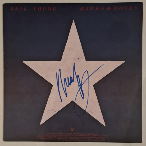 Neil Young Autographed 'Hawks & Doves' Album COA #NY63552