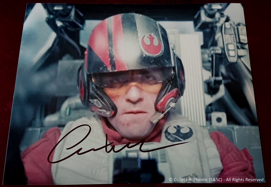 Oscar Isaac Autographed Star Wars The Force Awakens 8x10 Photo - COA #OI58880