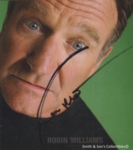 Autographed / Signed Robin Williams