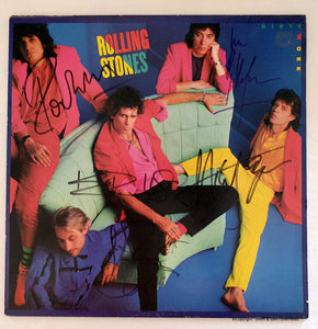Rolling Stones - Fully Autographed 'Dirty Work' LP - COA #RS56471