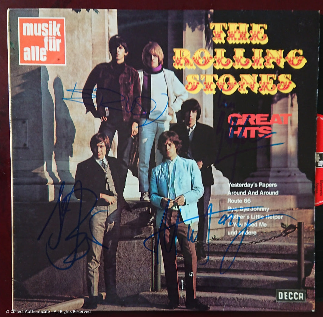 The Rolling Stones - Autographed 'Greatest Hits' LP - COA #RS58900