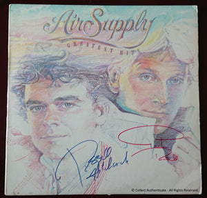 "Russell Hitchcock & Graham Russell Autographed ""Air Supply"" Record - COA #AS59325"