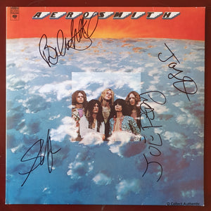 Steven Tyler Brad Whitford Joe Perry Joey Kramer Signed Aerosmith Record LP COA #AS48964
