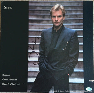 Sting Autographed Record - Self Titled