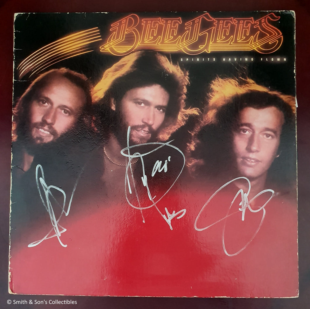 THE BEE GEES AUTOGRAPHED SPIRITS HAVING FLOWN ALBUM COA #BG99987