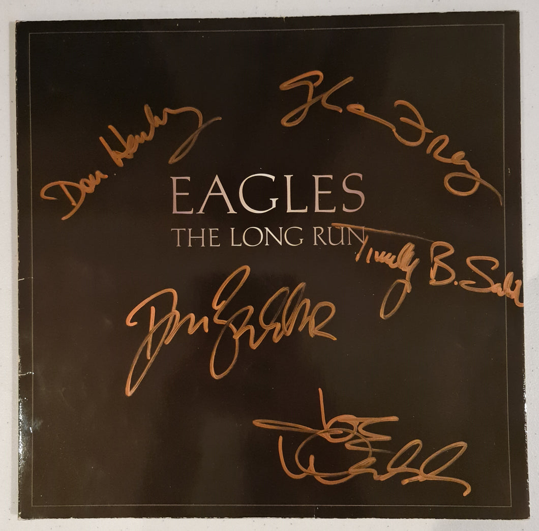 The Eagles Autographed 'The Long Run' Album COA #TE87482