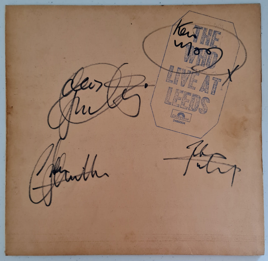 The Who 'Live at Leeds' LP Fully Autographed LP COA TW49734