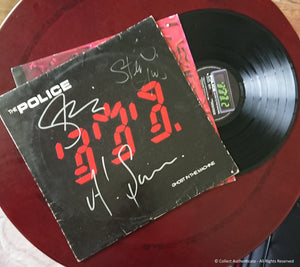 The Police - Autographed 'Ghost in the Machine' LP - COA #PC58890