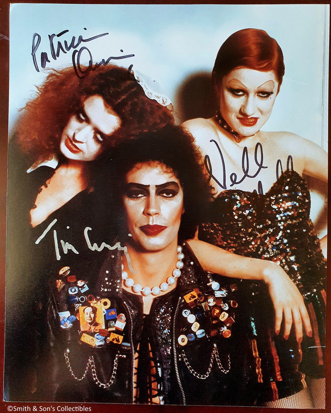 Tim Curry, Quinn & Campbell Autographed Rocky Horror Picture Show 8x10 Photo COA #RH78745