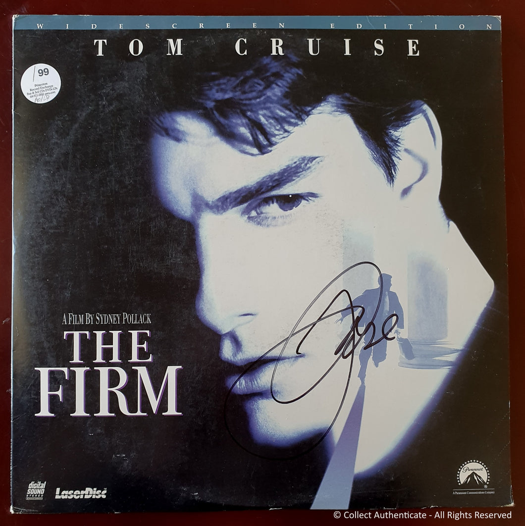Tom Cruise Autographed 'The Firm' Laser Disc Movie - COA #TC58839
