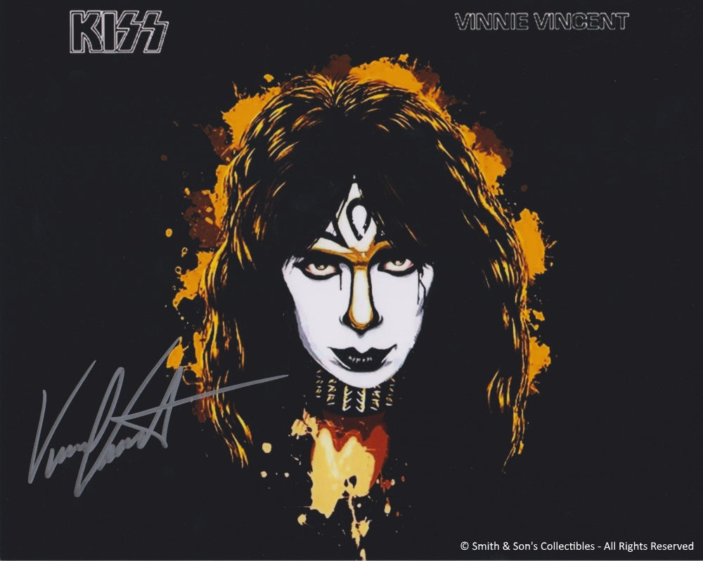 Vinnie Vincent Autographed KISS