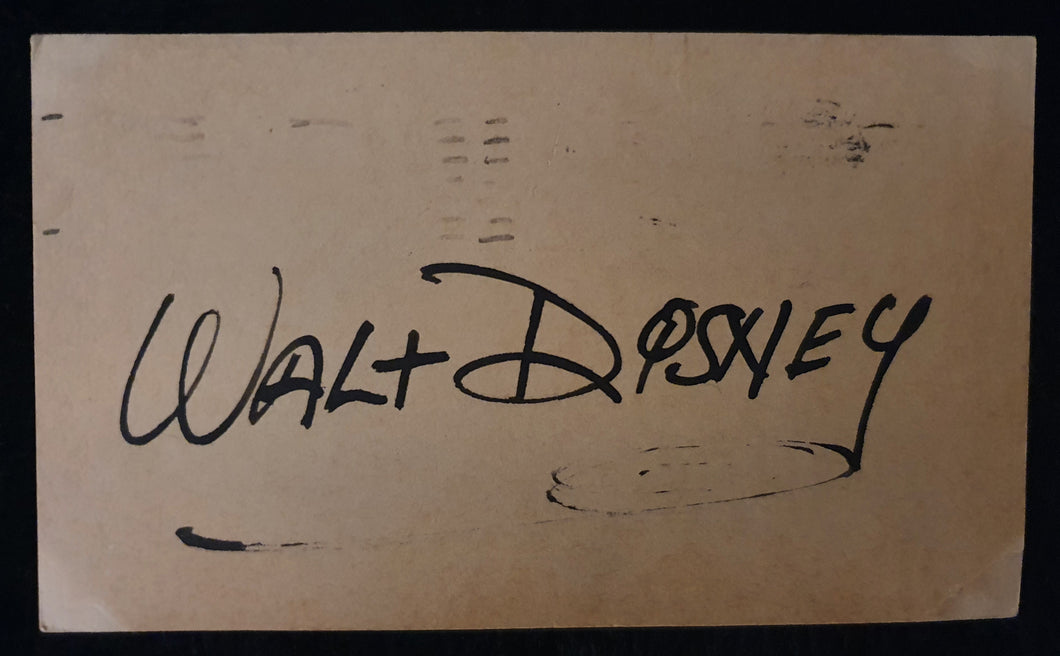 Walt Disney Autographed 8x10 Photo COA #WD37964