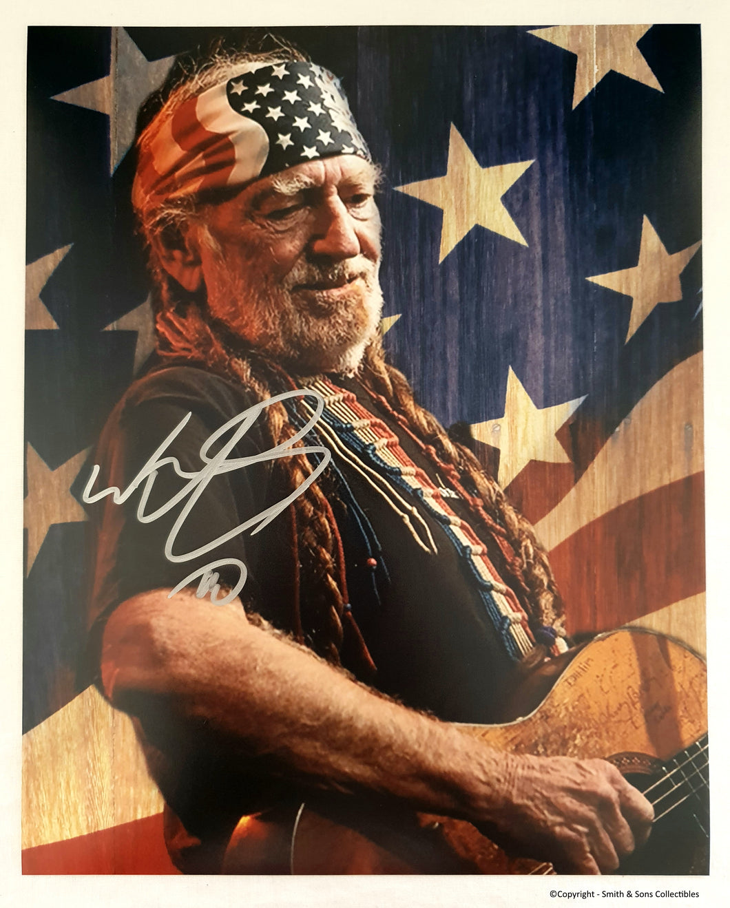 Willie Nelson Autographed Glossy 8x10 Photo COA #WN22584