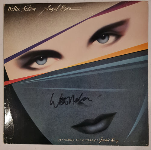 Willy Nelson Autographed 'Angel Eyes' Album COA #WN66452