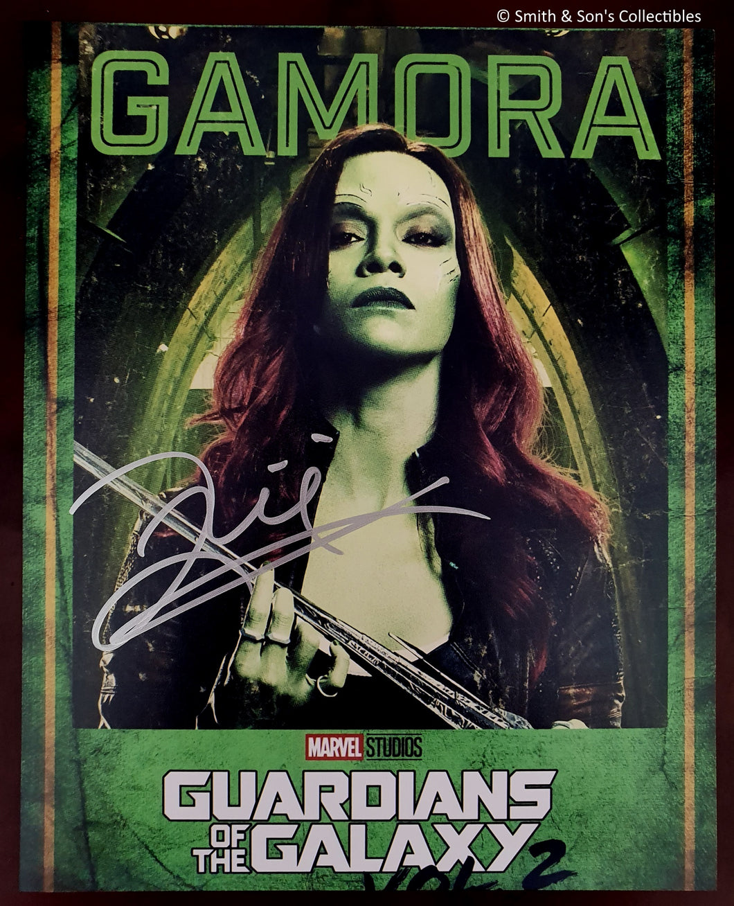 Zoe Saldana Autographed Guardians of the Galaxy Glossy 8x10 Photo COA #ZS69734