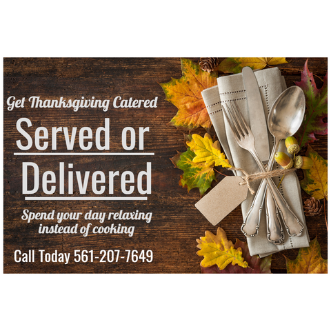 Thanksgiving Catering, Catering Palm beach county florida, catering martin county florida, holiday catering