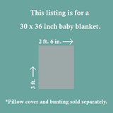 Gold, Blush Pink and Mint Baby Blanket - CLEARANCE