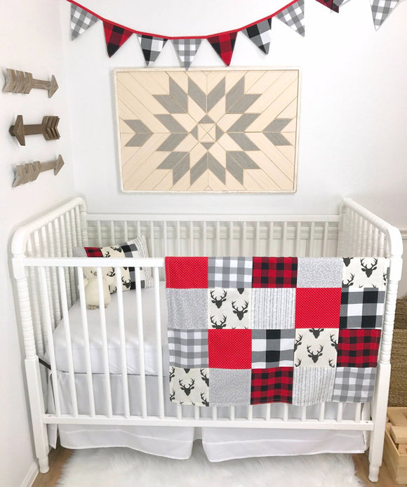 Buffalo Plaid Lumberjack Baby Blanket