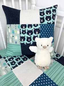 Woodland Bear Pillow Cover