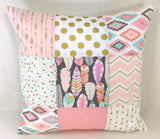Feather and Arrow Pillow Cover