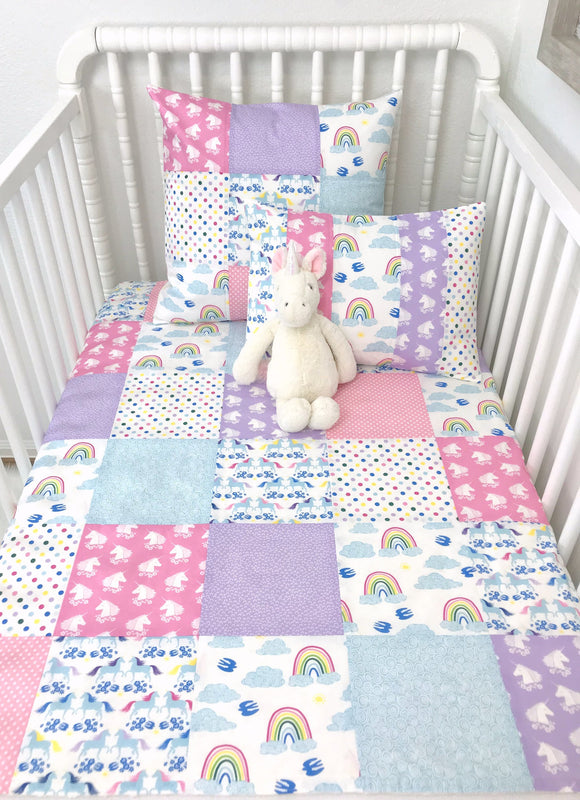 Unicorn and Rainbow Baby Blanket