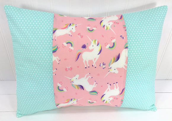 Blush Pink Unicorn Pillow Cover