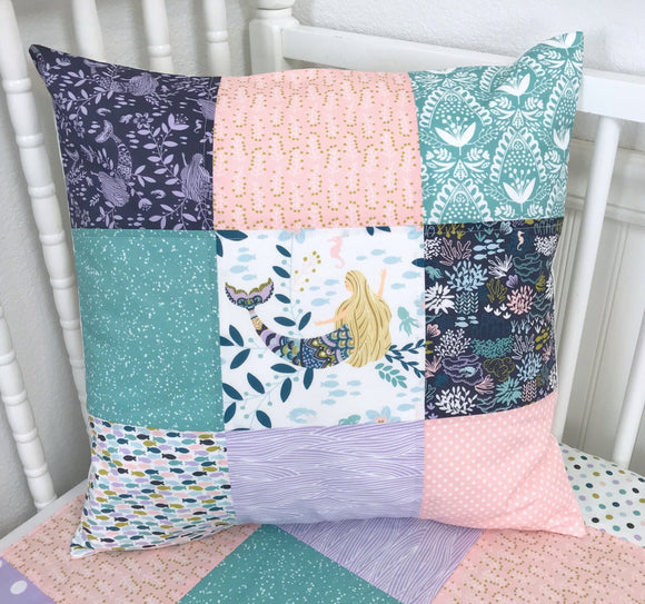 Mermaid Siren Song Pillow Cover