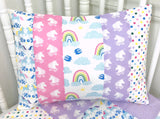 Rainbow and Unicorn Pillow Cover
