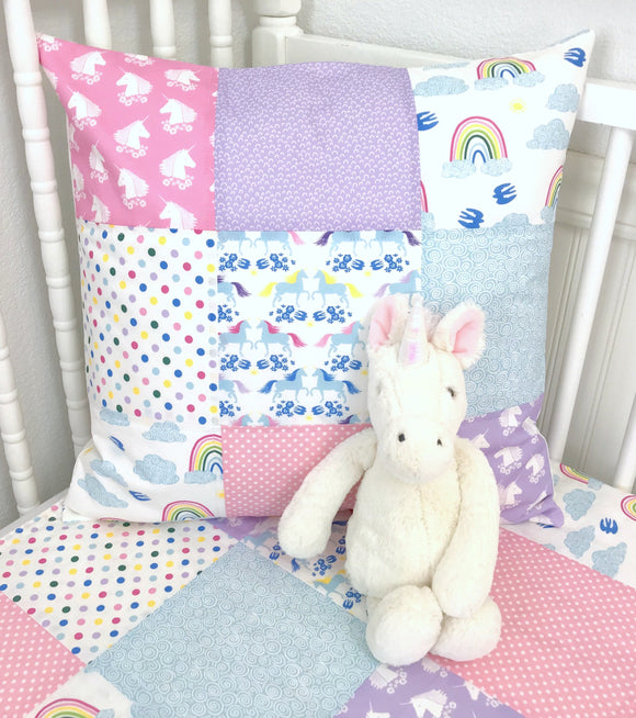 Unicorns and Rainbows Pillow Cover
