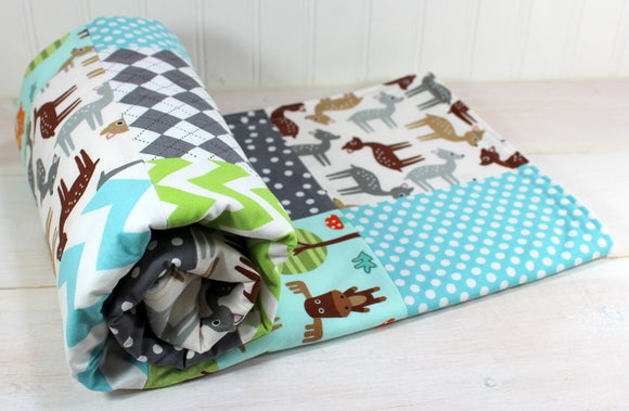 Woodland Animal Friends Baby Blanket