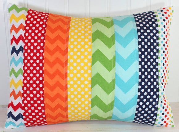 Rainbow Chevron Pillow Cover