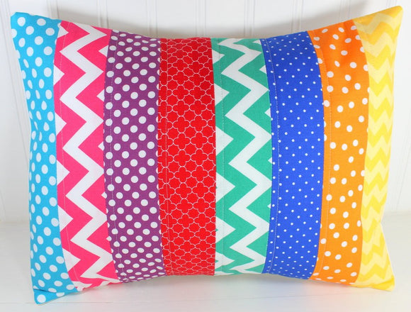 Bright Rainbow Pillow Cover