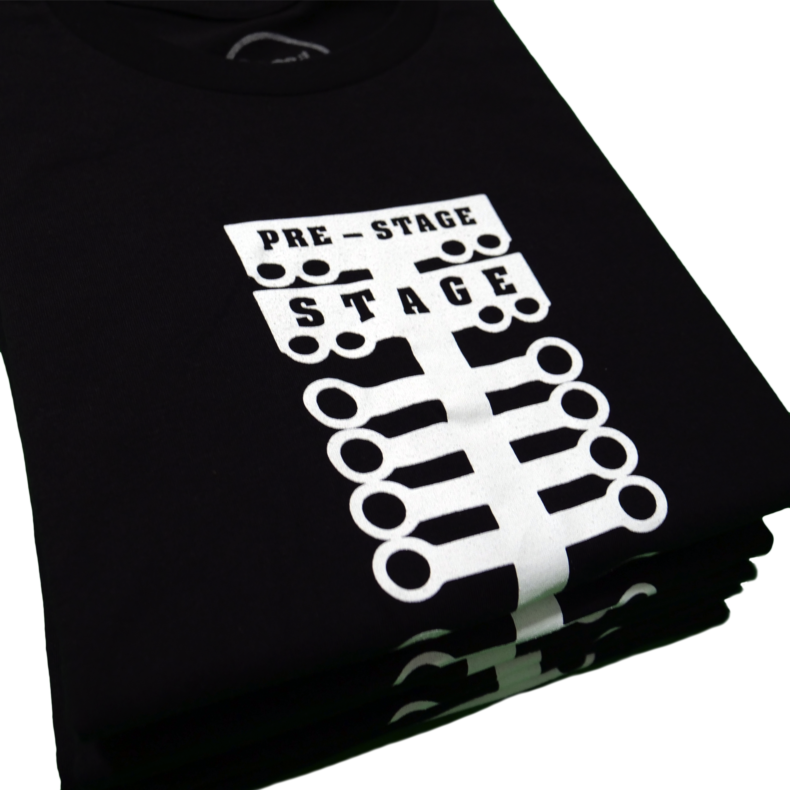 Folded ososik drag race roots black shirts