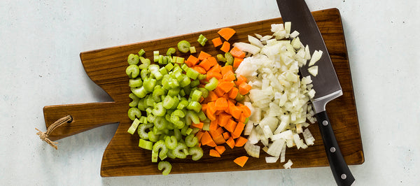 Chopped Carrots, Celery and Onions