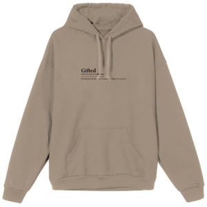 Gifted Definition Hoodie - Beige